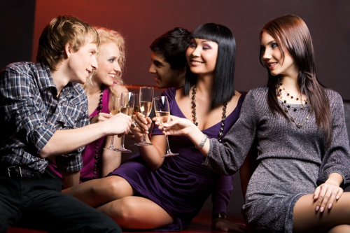 group-swingers at swinger club