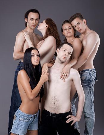 fitness model posing naked