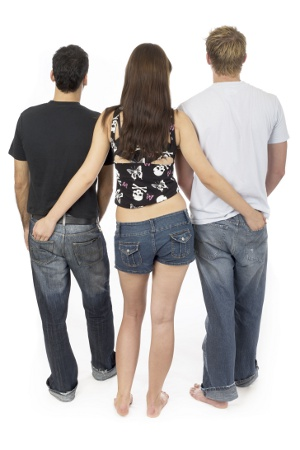 girl with two guys